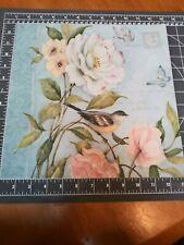 "K&Co 12"" Scrapbook Paper 5 pc Susan Winget Floral Postcard rose cabbage wedding"