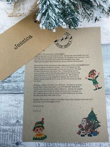 Welcome Back Elf / Goodbye From Elf Christmas Eve Box Letters Elf Accessories