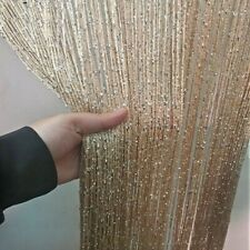 Window Curtains Luxury Shiny Tassel Line String Living Room Decor Divider Screen