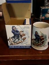 """Norman Rockwell Museum """"Braving The Storm"""" Coffee/Hot Tea Mug/Cup 1985"""