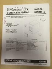 Emerson Service Manual for the Micro-10 Home Theater Sound System     mp