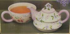 Pretty Tea for One Teapot Ceramic Tea Cup New in box Floral 3 Piece NIB