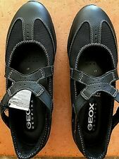 Geox Respira Damen Mädchen Ballerina Sandalen 37 schwarz Schuhe neu