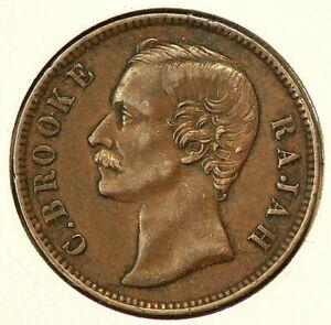 1870 Sarawak Cent KM#6 Copper #1236