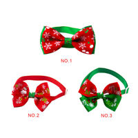 Christmas Dog Cat Pet Bow Tie adjustable Necktie Collar Bowtie Christmas Pattern