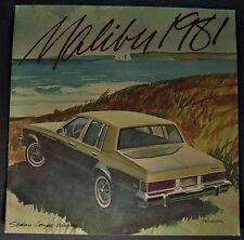 1981 Chevrolet Malibu Brochure Classic Landau Sport Wagon Excellent Original 81