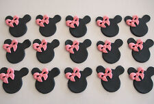 12 Cute Minnie Mouse cupcake topper EDIBLE CAKE DECORATION Mickey BIRTHDAY PARTY
