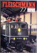 Catalogo Fleischmann h0 77 modello ferroviario con listino prezzi originale -. - (347)