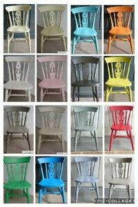 New Beech Fiddle back Dining Chairs Sprayed painted in any colour RAPID DISPATCH