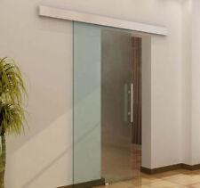 Glasschiebetür Schiebetür Glastür Transparent Griffstange satiniert 2050x775x8mm