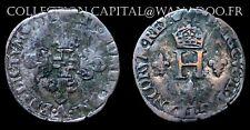 Henri III Sol Parisis 1551A ou Trois Blancs ou Demi Gros de Nesle Billon 2.88gr