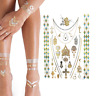 Love Metallic Island Festival Henna Temporary Tattoo Gold Face Body Holiday Art