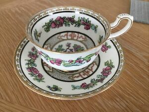 PARAGON FINE CHINA INDIAN TREE PATTERN CUP & SAUCER