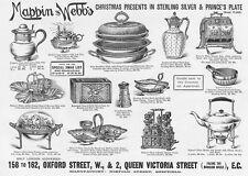 MAPPIN & WEBB Silver Christmas Presents - Victorian Advert 1893