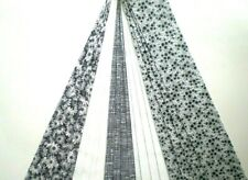 """20 - 2 1/2"""" Black & White Jelly Roll Strips 100% Cotton Quilt Fabric 360"""