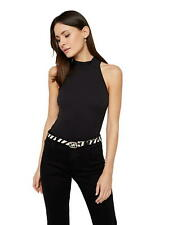 Pieces Damen Body-Top PcNaja Bodystocking  Neckholder Stehkragen schwarz