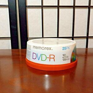 Memorex DVD-R 16x 4.7GB 120 Min 25 Pack Spindle - Brand New Sealed