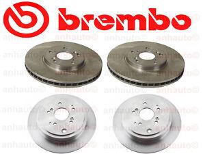 Set of 4  Brembo Rotors (2-Front & 2-Rear) for Acura MDX & Honda Pilot