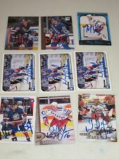 LOT OF 36 AUTOGRAPHED NEW YORK RANGERS HOCKEY CARDS