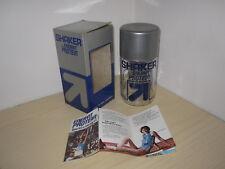 SHAKER in vetro Vintage ENERVIT PROTEIN Integratore Proteine Gym Sara Simeoni