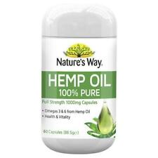 Nature's Way Hemp Oil 1000mg - 60 Capsules