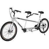 "Tandem Bike 20"" Bicycle 21 Speed Aluminum Frame Gray"
