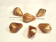 20 pcs x Golden/Aut Acrylic Beads: AUT16 Teardrop