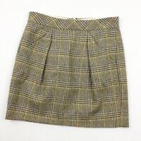 Womens J Crew Wool Plaid Pencil Skirt Size 4                 (SK4)