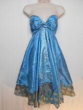 Vintage Silk Blend Double Layer Reversible Sarong Sari Magic Wrap Skirt Dress 34