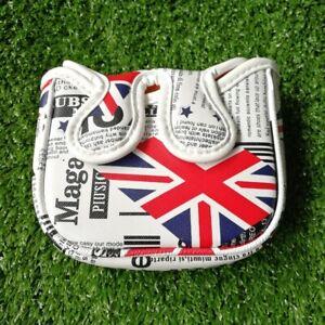 UK Flag Magnet Golf Square Mallet Putter Head Cover for Center Shafts Putters