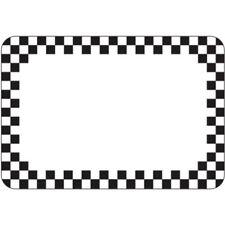 Write On Tag With Mini Black Checks Vinyl Heat Resistant 2 1/8 H x 3 1/8 L 12
