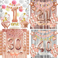 Complete Birthday Party Decoration Sets 1st/21st/30th/40th Party Balloons Kits