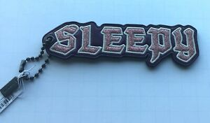Coach X Disney SLEEPY hang tag/key ring-leather- glitter white pink Snow White