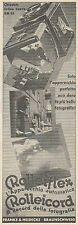 Z3394 Apparecchi fotografici ROLLEIFLEX ROLLEICORD - Pubblicità - 1934 old ad
