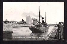 Silloth - S.S. Yarrow entering Docks - printedpostcard