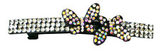 Bella Crystal Butterfly Barrette Hairclip Black Trim Sale @ $2.50 FA3