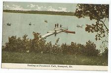Searsport ME Penobscot Park Boating Vintage Postcard