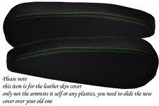 Green stitch fits CITROEN C4 PICASSO 2006 + 2 sièges avant capot en cuir accoudoir