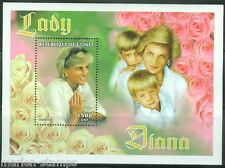 GUINEA  PRINCESS DIANA & CHILDREN 1500 fr SOUVENIR SHEET  PERFORATED  MINT NH