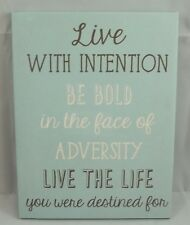 Inspirational Quote Canvas Wall Art Picture Live w/ intention face Adversity #2