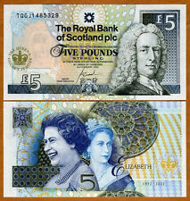 Scotland, 5 pounds, 6-2-2002, P-362, QEII, UNC > Commemorative Golden Jubilee