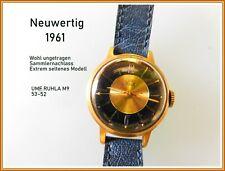Extrem seltene Armbanduhr UMF M 9 Ruhla 53-52  6 Steine Sammler Rarität