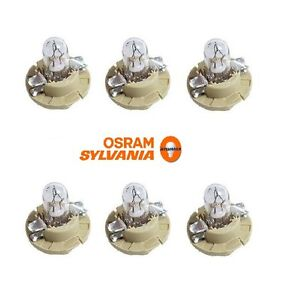 For Mercedes R129 W140 Instrument Panel Light Bulb Set of 6 OEM