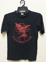 VINTAGE 1981 BLACK SABBATH ROCK METAL TOUR CONCERT PROMO T-SHIRT OZZY DIO 50/50