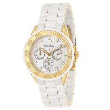 New! Bulova Ladies' White Stainless Steel Watch 98N102