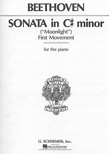 Sonata in C# Minor, (Moonlight)-1st Movement FOR THE PIANO-SHEET MUSIC-NEW-SALE!