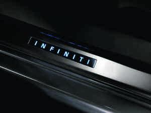 New OEM Infiniti Q40 G35 G37 Sedan Illuminated Kick Plates