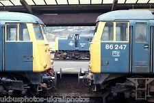 British Rail Class 40013 Preston framed by 85017 & 86247 04/08/83 Rail Photo