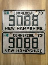 PAIR 1973 1974 NEW HAMPSHIRE Live Free or Die License Plates 9088 NH Old Man