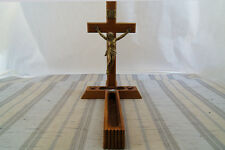 Vtg. INRI Wood Wall Crucifix Jesus On The Cross Last Rites Catholic Hidden Area